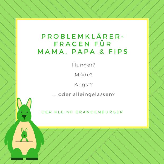 Problemklärerfragen für Mama, Papa und Fips